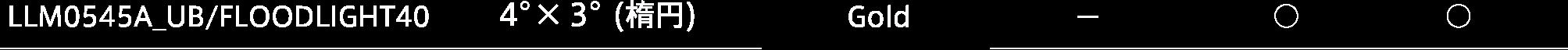 LLM0545A金色スペック表